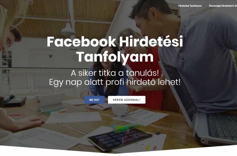 Facebook hirdetéskezelő tanfolyam