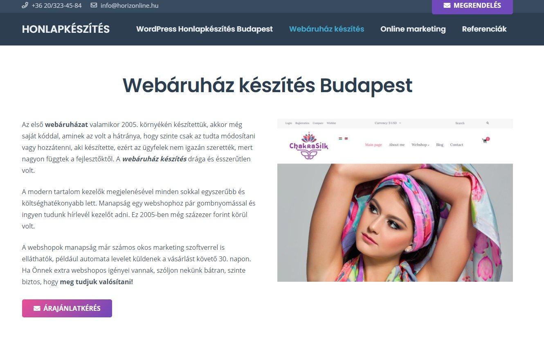 Népszerű webshop készítése