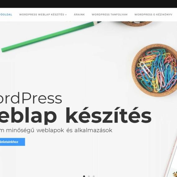 Sikeres WordPress weboldal készítés referenciák