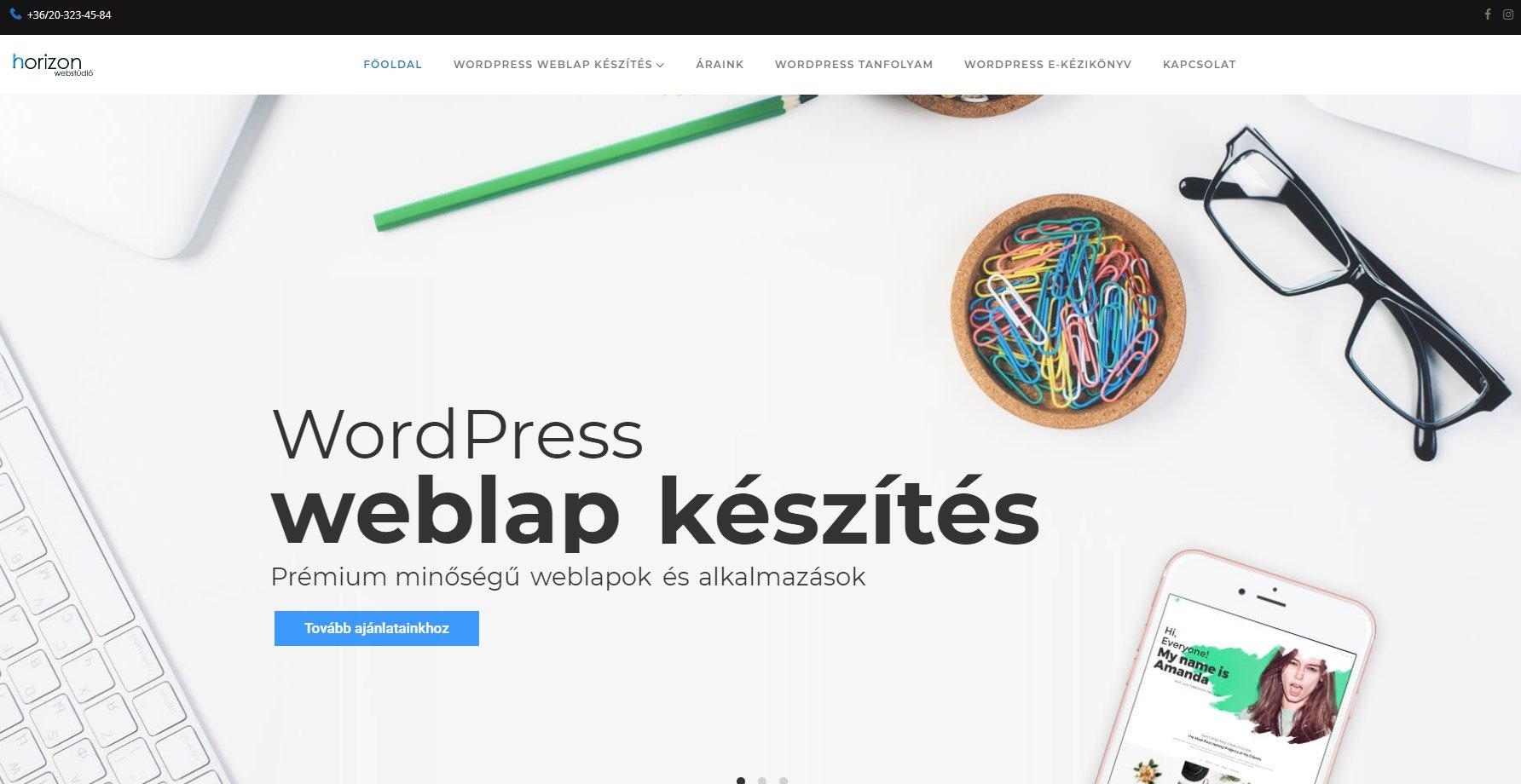 WordPress weboldal készítés referenciák