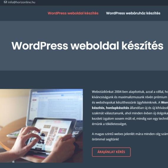 Vállalkozói WordPress honlapkészítés